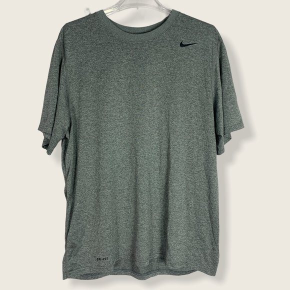 Nike Dri Fit Cotton Poly T-Shirt Short Sleeve Gray